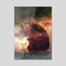 The Rhino - Acrylic by Oksana Bula
