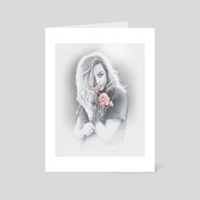 Softness Portrait - Art Card by Moisés Rodríguez