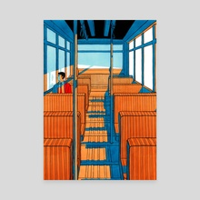 Ghost on a bus - Canvas by Theo d'Orato