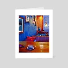 coffee house - Art Card by Michał Sawtyruk