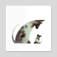 Mama + Mini - Acrylic by Faryn Hughes