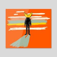 moon man - Acrylic by lighthause