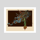 """Mobile Suit """"Gungan Wing"""" - Art Print by Robbie Trevino"""