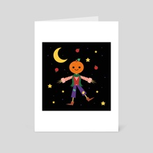 Jack Pumpkinhead - Art Card by Carly Watts