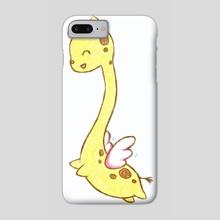 Giraffasus - Phone Case by Bridget Garofalo