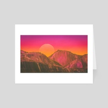 november sunrise - Art Card by drewmadestuff