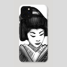 Geisha illustration - Phone Case by Bernardo Ramonfaur