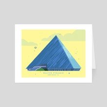 Walter Pyramid, Long Beach, CA - Art Card by Jordan Lance
