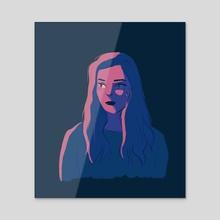 Nadine - Acrylic by Kaushiki Tripathi