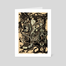 Metango Dreams of Ixanna in Disarray - Art Card by X E L A  S O M A