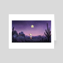 Moustique & The Star III - Art Card by Alex Blain