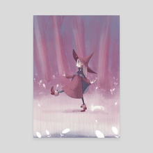 Little Forest Witch - Purple - Canvas by Dani Ve