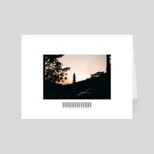 Silhouette Sunset  - Art Card by John Jackson