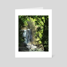Forest waterfall - Art Card by Ashley.art