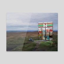 Convenience store - Acrylic by Gregor Burns