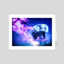 Space Elephant - Art Card by mtforlife