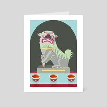 Guardian Lion dog - Art Card by Carly A-F