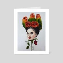 Head of Frida Kahlo - Art Card by Isa Magnolia Mendes