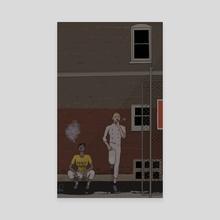 Smoke Break - Canvas by Piya Willwerth