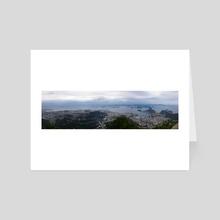 Rio de Janeiro panorama - Art Card by Andres Sc