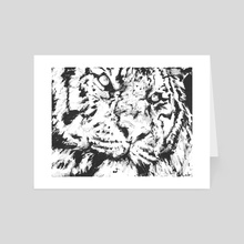 Monotone Tiger - Art Card by Natalie Knowles