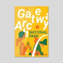 Gateway Arch - Acrylic by Sara Wong