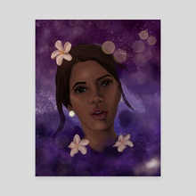 Jasmine and Space - Canvas by Anais Cantres