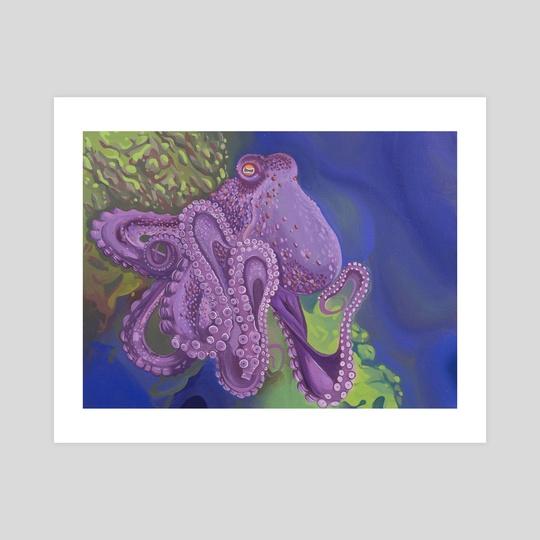 Purple Octopus by allison j. sebastian