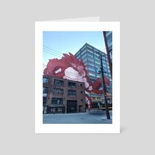Kaiju of Montreal : Pincers of destruction - Art Card by Mathieu Falardeau
