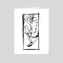 Untitled//Humming - Art Card by Emily Lubanko