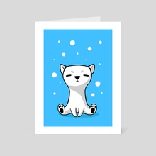 Polar Cub - Art Card by Indré Bankauskaité