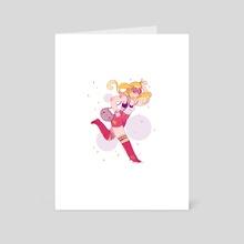 Running Girl - Art Card by Elena Resko