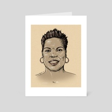 The Incomparable Leslie Jones - Art Card by Natalie Koscal