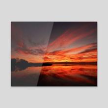 December horizon - Acrylic by Simona Markoska