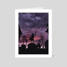 FLCL - Art Card by Obnubilant  ラヤン