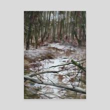 Abcoven Forest - Canvas by Martijn de Boer