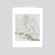 sirin - Art Card by Julia Yrkoski