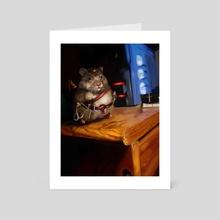 Ninja Hamster - Art Card by Mike Tenebrae