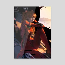 Asuka - Acrylic by Lia Marin