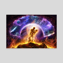 Twin Flames - Canvas by Louis Dyer