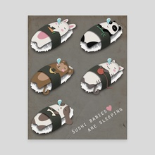 Sushi Babies - Canvas by Lary Yu