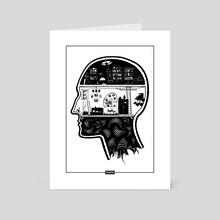 Inside the head - Art Card by Wadim Hermann