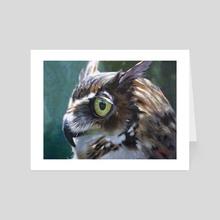 Great Horned Owl - Art Card by Christopher Reid