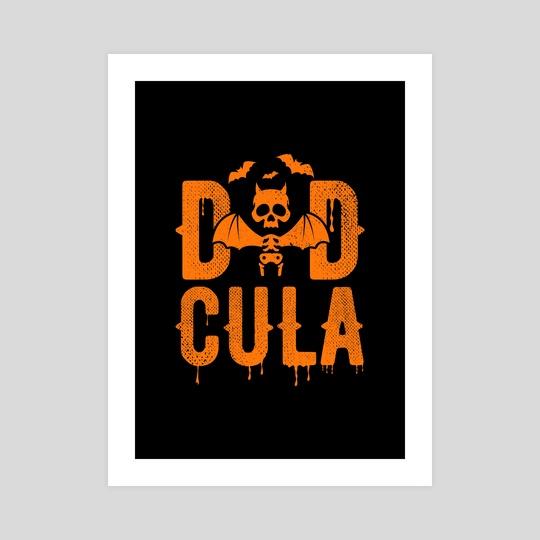 Dadcula Funny Halloween Dad by Visuals Artwork