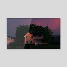 Yellow House - Acrylic by Bran Catron