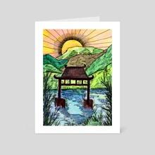 Sunset at the Water Gate - Art Card by Sebastian Grafmann