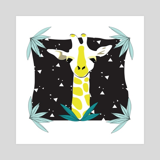 Safari Kid - Giraffe Black by Justine Swindell