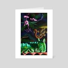 Hinkas in Space - Art Card by Karen Roop