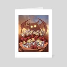 Headlights of Doom - Art Card by Dooomcat