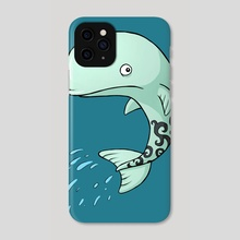 Whale - Phone Case by Indré Bankauskaité
